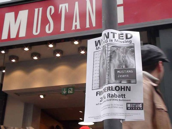 Mustang is Missing – Guerillamarketing-Kampagne für Mustang-Jeans
