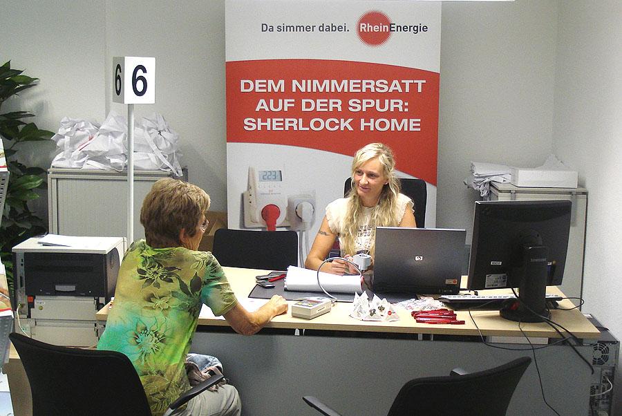 Der Umwelt zuliebe. Promotion für die RheinEnergie zum Stromsparen
