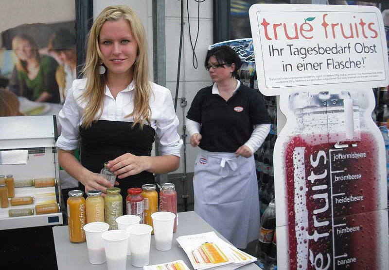Bundesweite Verkostungs-Kampagne für True Fruits Smoothies