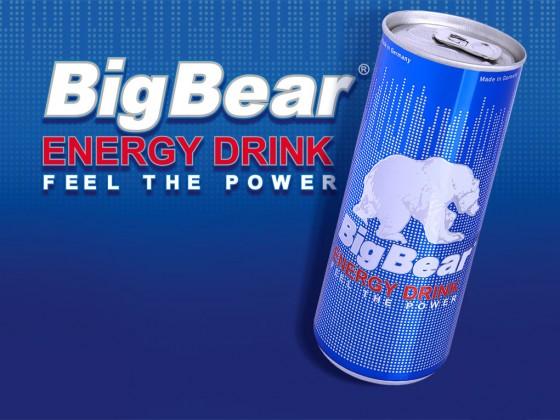 Corporate-Design Entwicklung für neuen Energy-Drink 'Big Bear'