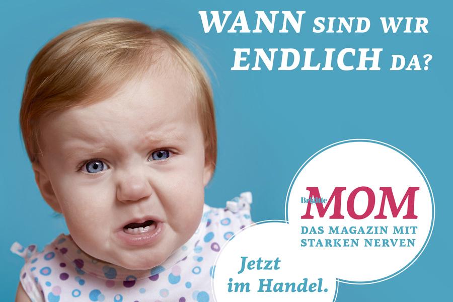 Guerillamarketing-Kampagne für Gruner & Jahr Titel Brigitte-Mom