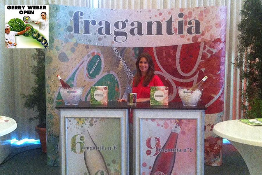 Adsolution präsentiert Wein-Neuheit Fragantia bei Gerry-Weber-Open