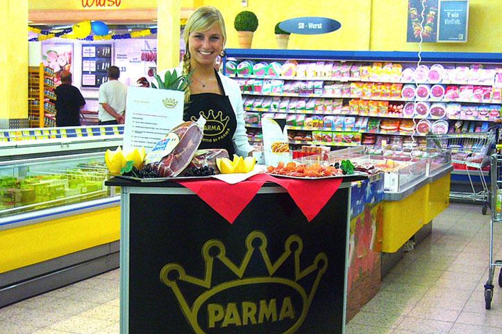 Werbedamen /-herren zur Verkostung von Parmaschinken gesucht