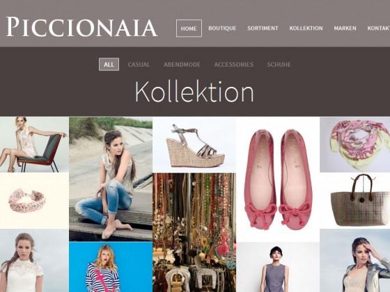 Moderne und stilvolle Fashion Webseite. Fully responsive.