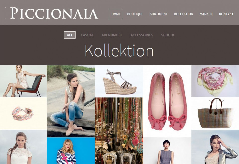 Moderne und stilvolle Fashion Webseite. Fully responsive.