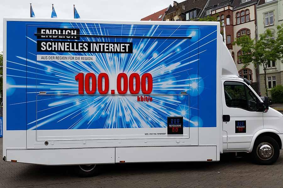 Adsolution geht auf Tour mit dem Netcologne Promotion-Truck