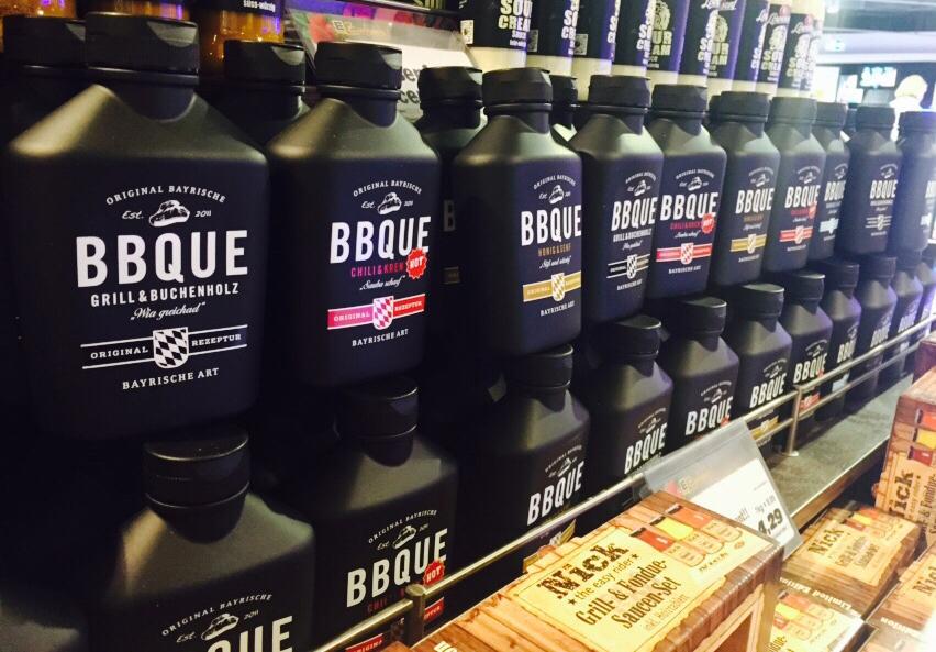 Verkostung von BBQUE Saucen in bundesdeutschen Supermärkten