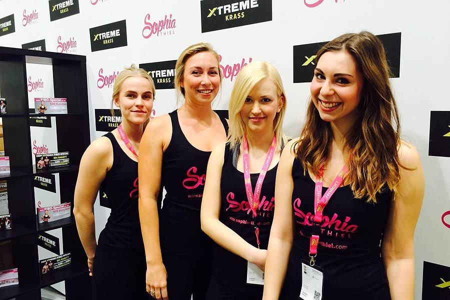 Sportlich-sportlich: Unsere Mädels auf der FIBO 2016 in Köln