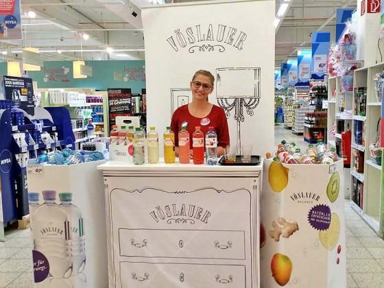 POS-Promotion für Vöslauer Mineralwasser in Süddeutschland