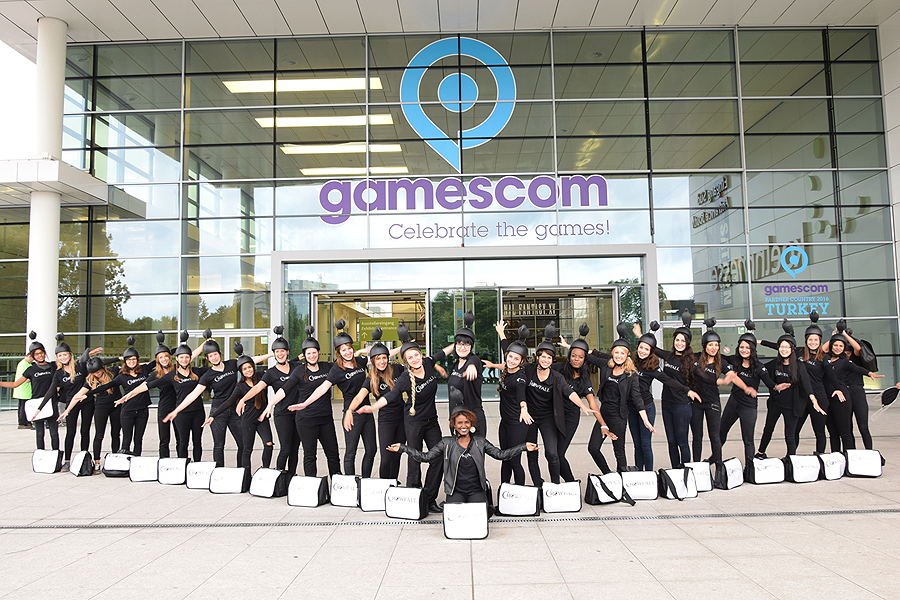 "Guerillamarketing zur Gamescom für ""Crowfall"" von Travian Games"