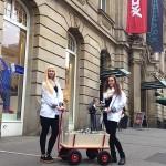 Guerillamarketing-Aktion Postgalerie Karlsruhe Adsolution Köln