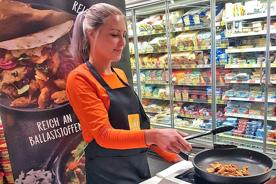 Voll Vegan: Handelspromotion für Like-Meat bei Edeka und Rewe