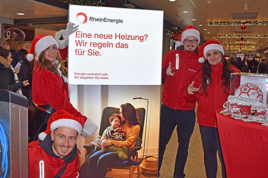 Ho, Ho, Ho – Weihnachtspromotion für die Rheinenergie
